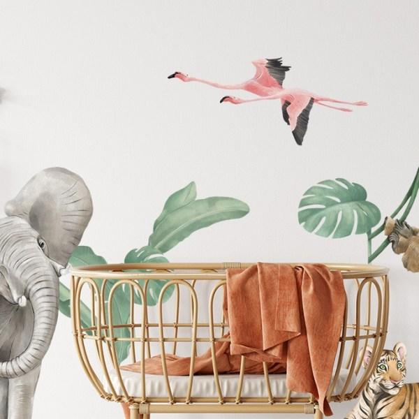 Kolorowa naklejka z afrykańskimi zwierzętami na ścianę inspiracja afrykańska