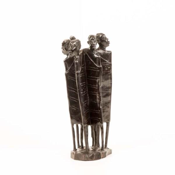 Masajowie z Tanzanii - piękna hebanowa rzeźba afrykańska