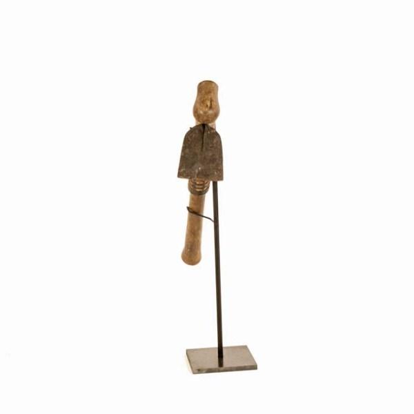 Oryginalny afrykański toporek z drewna z Tanzanii