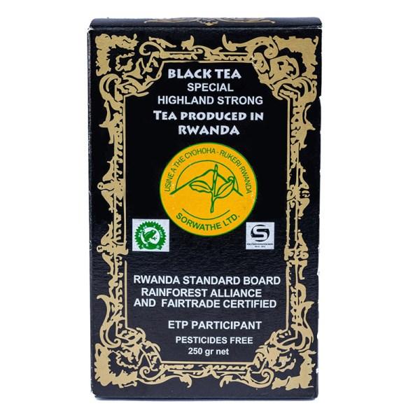 Czarna mocna herbata z Rwandy