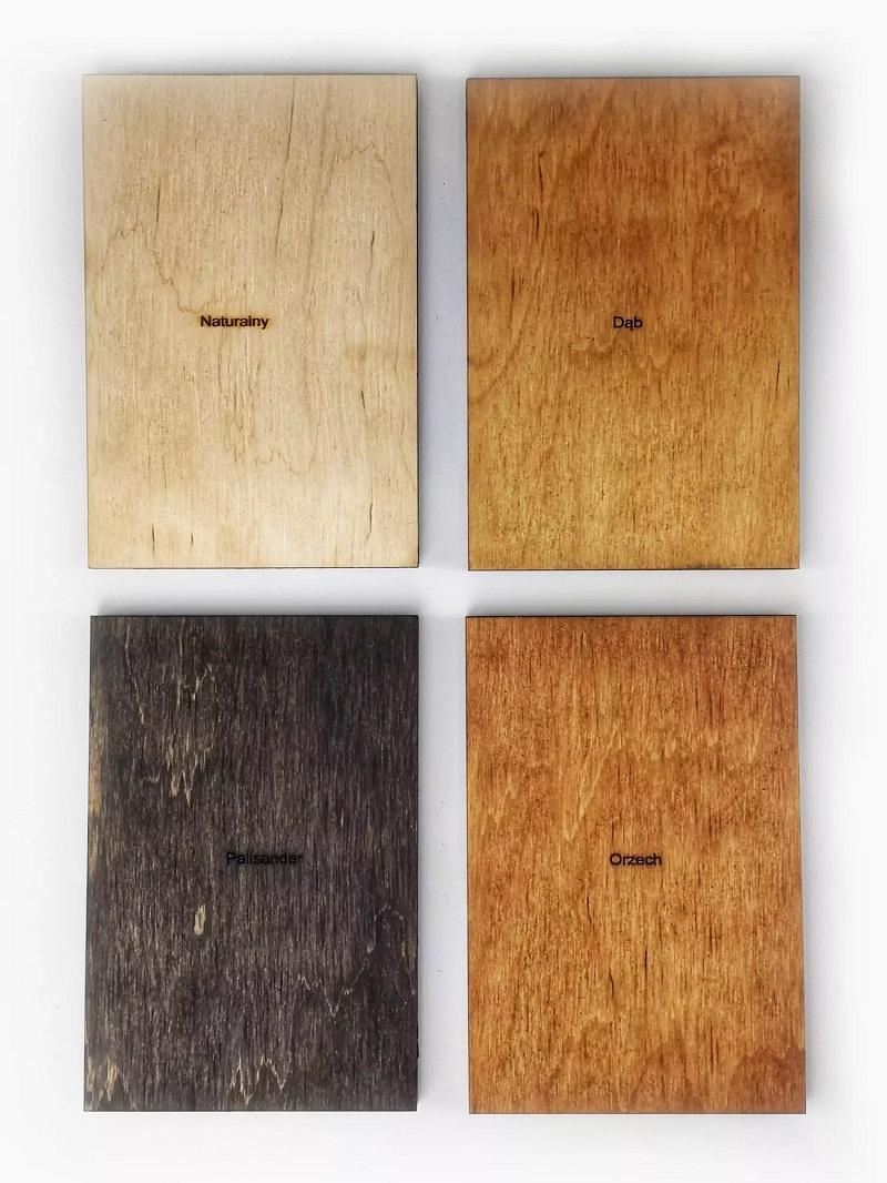 Drewniana mapa świata na ścianę - próbnik kolorów