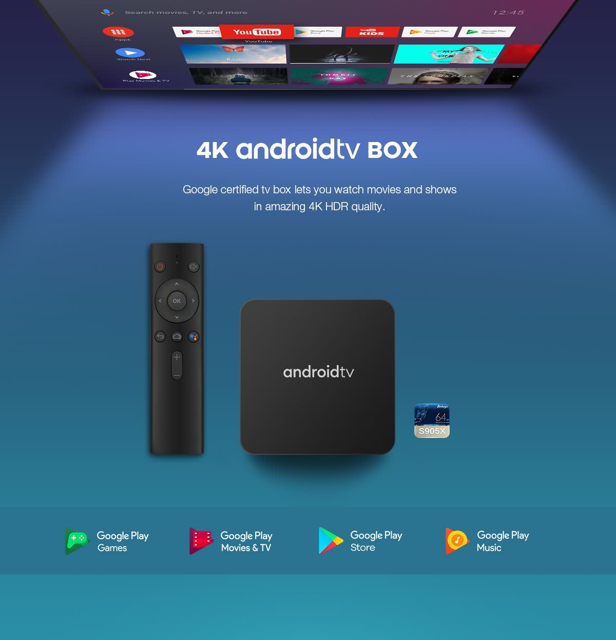 android box with TV tuner DVB-T2 configured by S905D chipset based on android 9.0/10.0 1