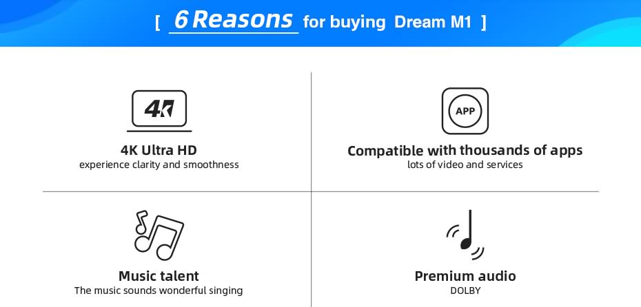 DreaMedia M1 4K android streaming player 5