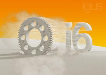 Rys.: nowy materiał SLS iglidur I6 jest szczególnie zalecany w procesie wytwarzania przyrostowego kół zębatych i wykazuje sześciokrotnie wyższą odporność na ścieranie w porównaniu do materiałów standardowych. (Źródło: igus GmbH)