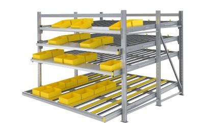 Znacznie krótszy czas montażu i łatwiejsza obsługa w przypadku systemów pick-to-light: Nowe ramy rolkowe Carton Flow firmy Interroll.