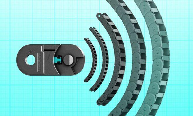 Dostępny w pięciu rozmiarach: model E2.1 firmy igus o innowacyjnej konstrukcji hamulca jest o 10 dB cichszy, niż jego poprzednik. (Źródło: igus Sp. z o.o.)