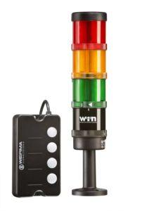 W wersji rozbudowanej kolumną sterować można za pomocą panelu ANDON SmartBox umożliwiającego programowanie na odległość.