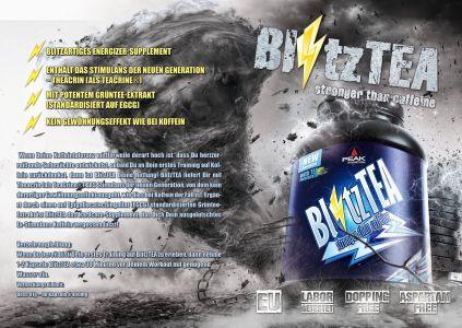 BlitzTea katalóg oldal design