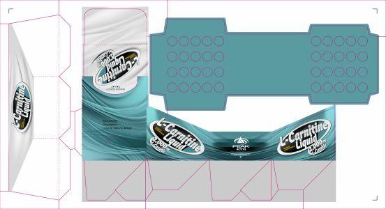 L-Carnitin Liquid csomagolás címke terv