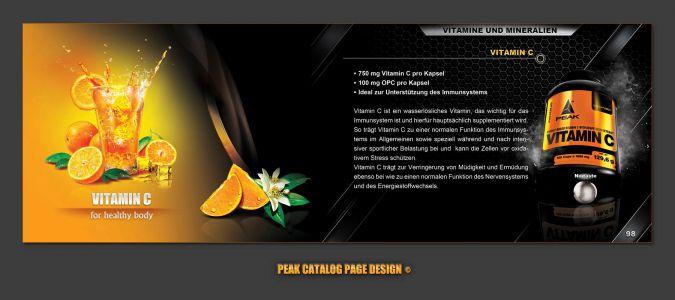 Peak katalóg oldal design