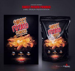 Sweet Potato Powder csomagolás design