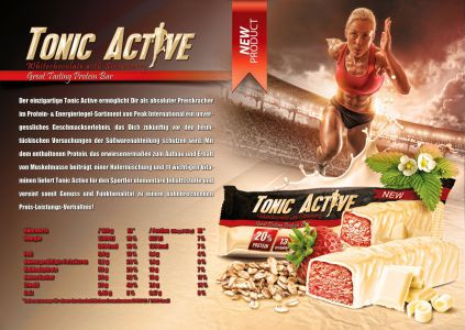 Tonic Active katalóg oldal design
