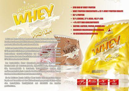 Whey Protein katalóg oldal design