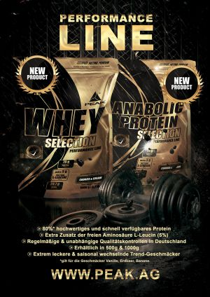 Whey Selection & Anabolic Protein Selection Magazin Advertisiment
