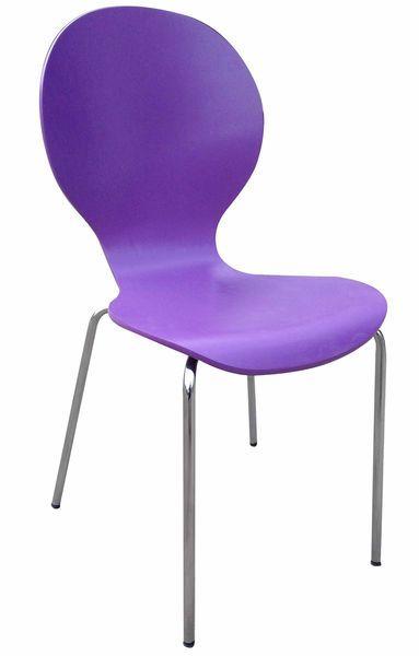 Shell (MF-3844) 4 db-os rakásolható lemezelt szék szett lila