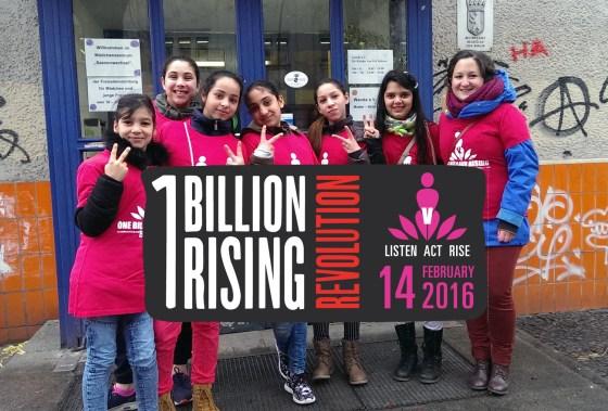 Foto One Billion Rising vor der Tür