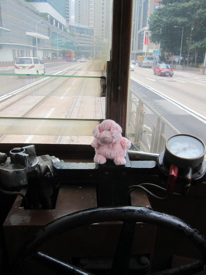 Pinkley on HK tram