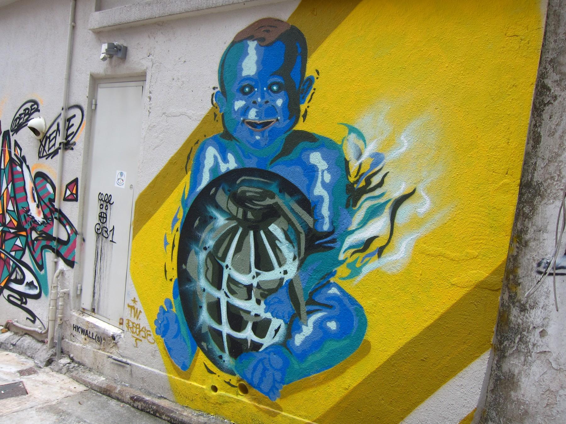 Street Art Hong Kong — Sze Wey\'s Kitchen Sink