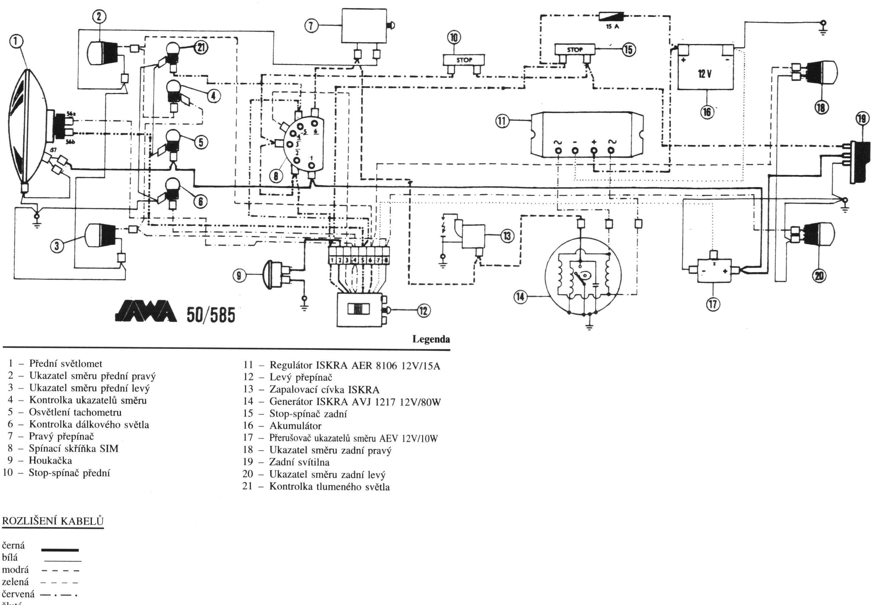 Jawa 638 Wiring Diagram