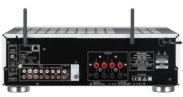 Pioneer SX-N30 Audiofil hang, fejlett képességek csatlakozok