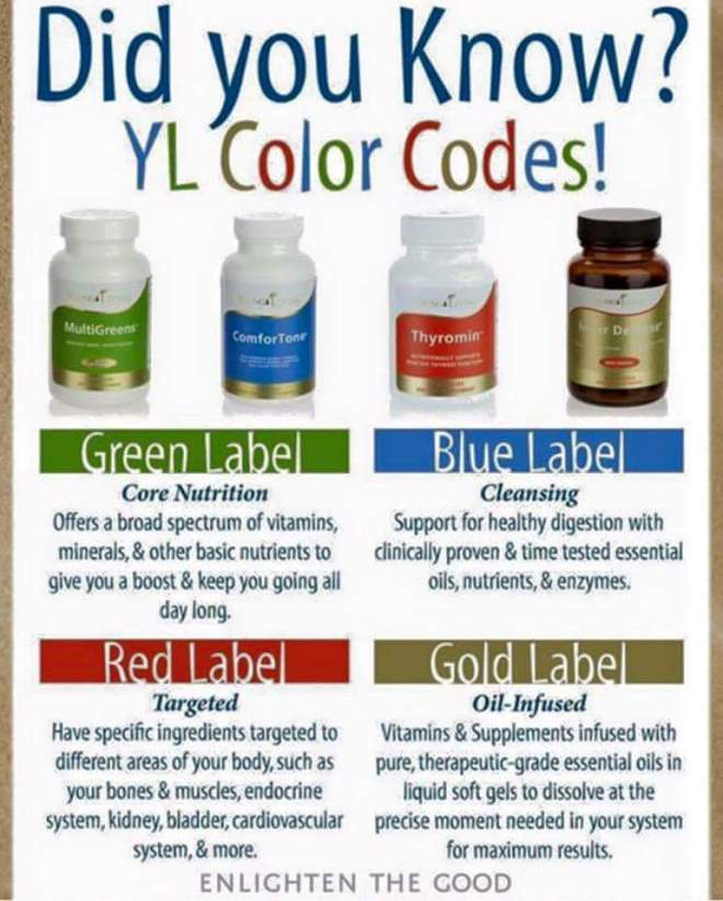 YL Colour Labels