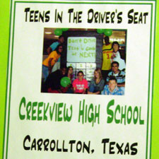 Creekview High School scrapbook cover.