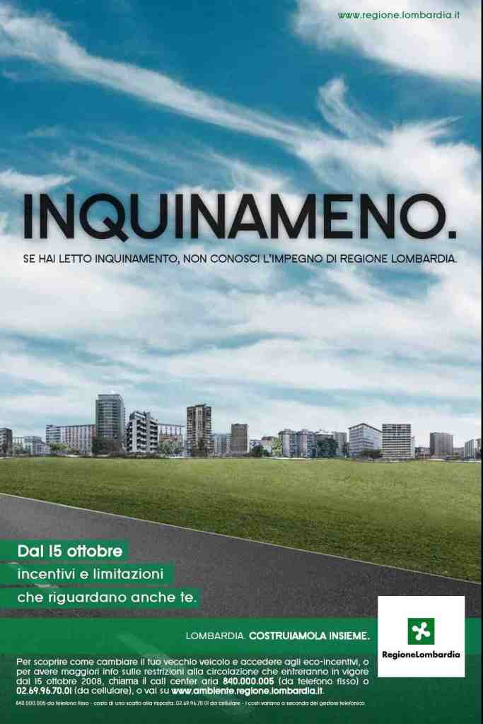 Regione Lombardia Inquinameno - Poster e print advertising