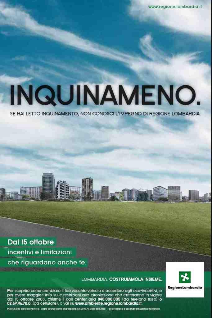 Regione Lombardia Inquinameno - Poster e print advertising