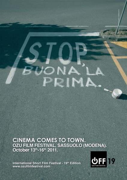 poster per ozu film festival a cura di diego fontana copywriter