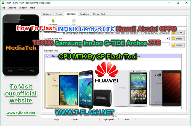 How To Flash Any Phone MTK CPU By SP Flash Tool