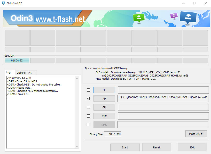 How To Flash Samsung Combination Firmware