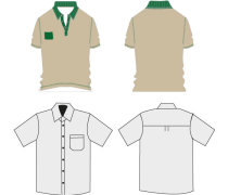 Shirt and polo t-shirt template