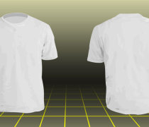Photoshop Men's basic t-shirt template