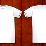 Men's basic Vector T-shirt Template