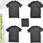 Blank T-shirt Template Black