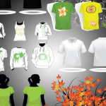 T-shirt template collection