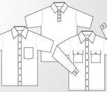 Woven shirt and polo shirt template