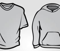 Hoodie and Basic T-Shirt Templates