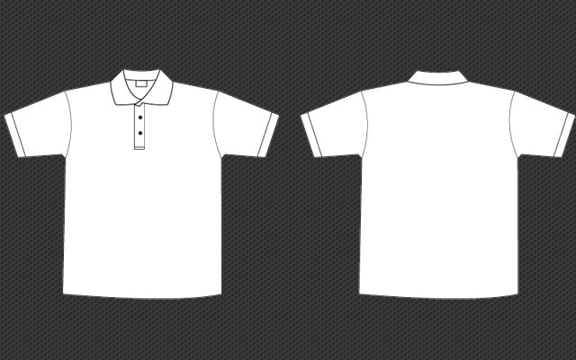 Polo Collar Tee Template   Free Download T Shirt Template Polo Collar Tee Template