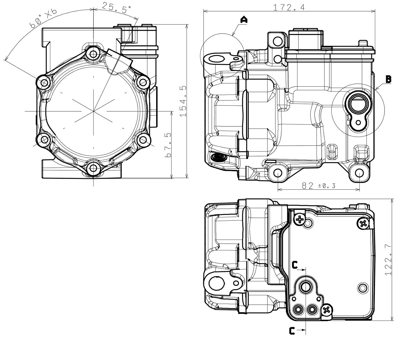 Electric Ac Scroll Compressor 12v 2 2kw