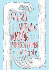 Sausau - Sleep/Walk - The Homebirds