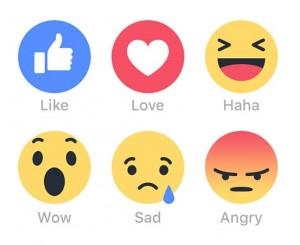 """Facebook wil nieuwe """"reacties"""" toevoegen aan de Like."""