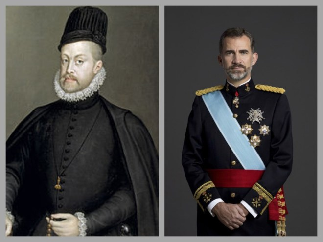 Philips II en Felipe VI