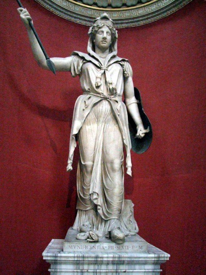 Een standbeeld van Juno in de Vaticaanse Musea