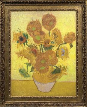 """Een Relievo 3D-replica van Van Goghs """"Zonnebloemen"""""""