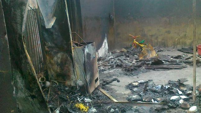 بيت أستاذ يتعرض للحرق بإقليم الجديدة