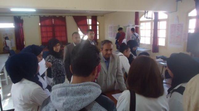 تنغير: قافلة التوجيه المدرسي والمهني تحط الرحال بالثانوية التأهيلية سيدي محمد بن عبد الله
