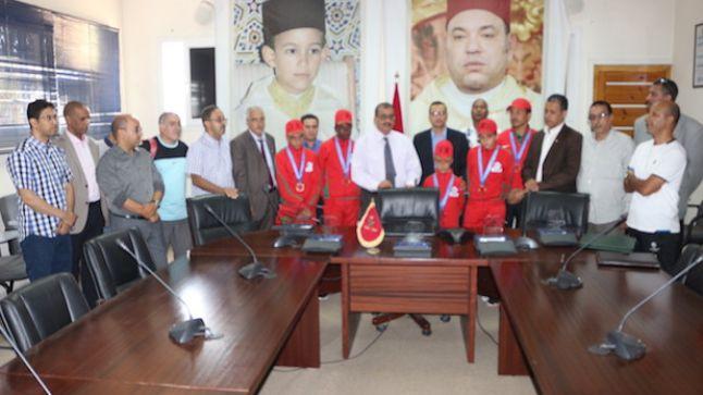 حفل استقبال لاعبي سوس ماسة في المنتخب المغربي المتوج ثالثا في كأس دانون للأمم