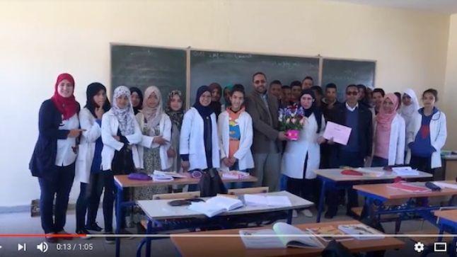 سكورة: نادي حقوق الإنسان بثانوية أبي القاسم يحتفي بالأستاذات بمناسبة 8 مارس.. (فيديو)