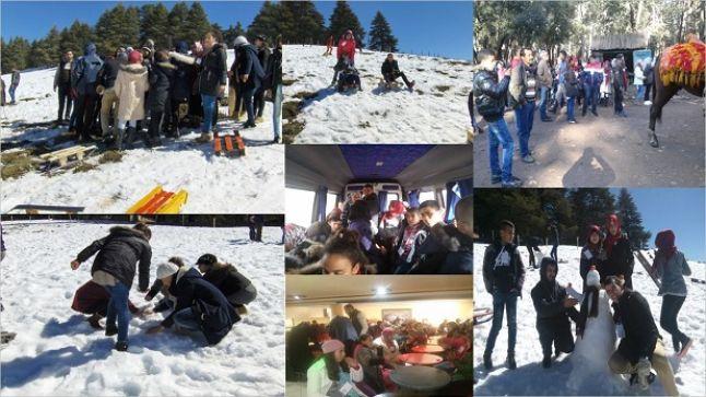 تلاميذ ثانوية الزريزر الإعدادية في رحلة استكشافية بقلب جبال الأطلس